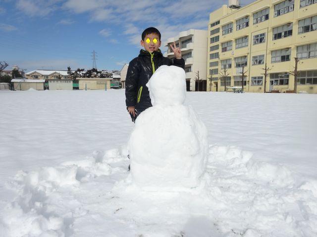 雪遊び その3