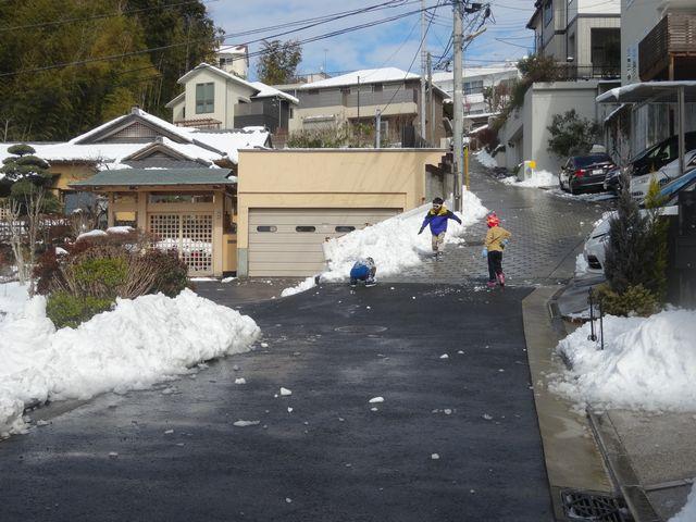 雪遊び その4