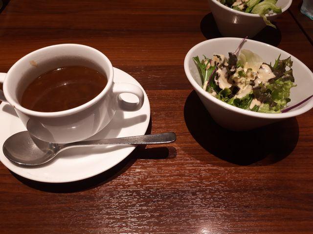 スープ、サラダ