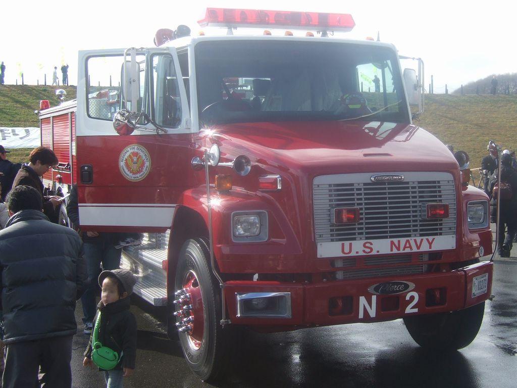 米軍の消防車
