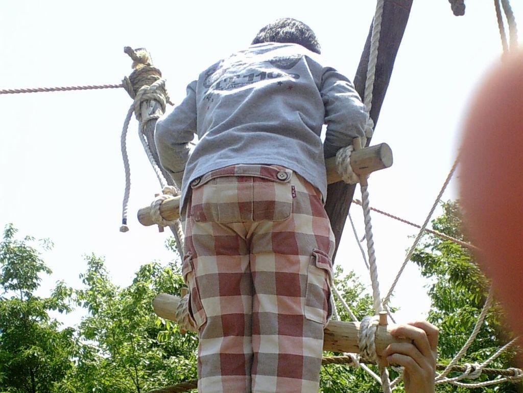 ロープの綱渡り