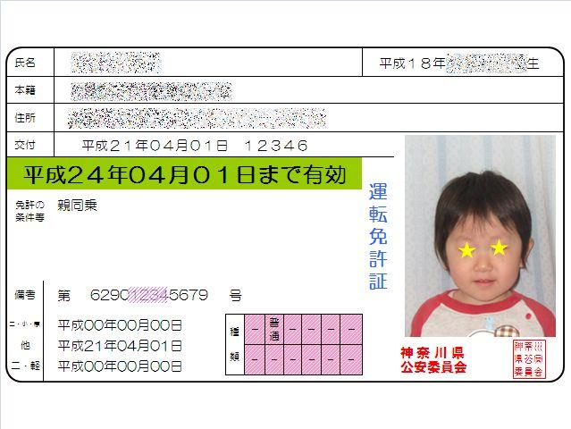 運転免許証《いぬ》